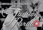 Image of Fashion Parade New York United States USA, 1956, second 5 stock footage video 65675040956