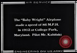 Image of Baby Wright Airplane College Park Maryland USA, 1930, second 1 stock footage video 65675041059