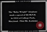 Image of Baby Wright Airplane College Park Maryland USA, 1930, second 9 stock footage video 65675041059
