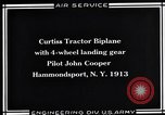 Image of Pilot John Cooper Hammondsport New York USA, 1930, second 3 stock footage video 65675041060