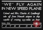 Image of Charles and Anne Lindbergh fly a Lockheed Altair airplane Newark New Jersey USA, 1930, second 6 stock footage video 65675041067