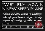 Image of Charles and Anne Lindbergh fly a Lockheed Altair airplane Newark New Jersey USA, 1930, second 7 stock footage video 65675041067