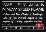 Image of Charles and Anne Lindbergh fly a Lockheed Altair airplane Newark New Jersey USA, 1930, second 10 stock footage video 65675041067