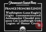 Image of Charles Lindbergh Washington DC USA, 1927, second 9 stock footage video 65675041068
