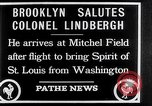 Image of Charles Lindbergh claims Orteig prize Brooklyn New York City USA, 1927, second 2 stock footage video 65675041074