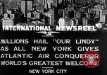 Image of Charles Lindbergh New York United States USA, 1927, second 2 stock footage video 65675041075
