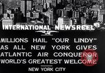 Image of Charles Lindbergh ticker tape parade New York City USA, 1927, second 3 stock footage video 65675041075
