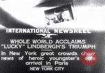 Image of Charles Lindbergh New York United States USA, 1927, second 1 stock footage video 65675041076