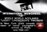Image of Charles Lindbergh New York United States USA, 1927, second 2 stock footage video 65675041076