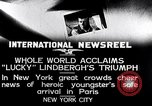Image of Charles Lindbergh New York United States USA, 1927, second 3 stock footage video 65675041076