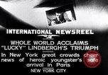Image of Charles Lindbergh New York United States USA, 1927, second 4 stock footage video 65675041076