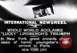 Image of Charles Lindbergh New York United States USA, 1927, second 6 stock footage video 65675041076