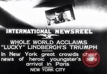 Image of Charles Lindbergh New York United States USA, 1927, second 7 stock footage video 65675041076
