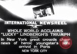 Image of Charles Lindbergh New York United States USA, 1927, second 9 stock footage video 65675041076
