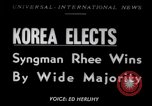 Image of Syngman Rhee Korea, 1952, second 1 stock footage video 65675041153