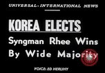 Image of Syngman Rhee Korea, 1952, second 2 stock footage video 65675041153