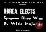 Image of Syngman Rhee Korea, 1952, second 3 stock footage video 65675041153