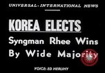 Image of Syngman Rhee Korea, 1952, second 6 stock footage video 65675041153