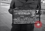 Image of German police officer directs traffic Berlin Germany, 1952, second 1 stock footage video 65675041180