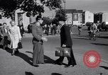 Image of German police officer directs traffic Berlin Germany, 1952, second 11 stock footage video 65675041180