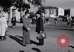 Image of German police officer directs traffic Berlin Germany, 1952, second 12 stock footage video 65675041180