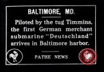 Image of German submarine Deutschland visits Baltimore Maryland Baltimore Maryland USA, 1916, second 1 stock footage video 65675041210