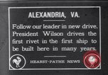 Image of Woodrow Wilson Alexandria Virginia USA, 1916, second 1 stock footage video 65675041216