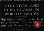 Image of 1929 World Series Baseball Chicago Illinois USA, 1929, second 12 stock footage video 65675041239