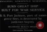 Image of Battle ship Richmond Beach Washington United States USA, 1929, second 2 stock footage video 65675041241