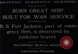 Image of Battle ship Richmond Beach Washington United States USA, 1929, second 3 stock footage video 65675041241