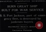 Image of Battle ship Richmond Beach Washington United States USA, 1929, second 5 stock footage video 65675041241