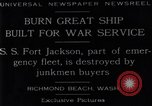 Image of Battle ship Richmond Beach Washington United States USA, 1929, second 6 stock footage video 65675041241