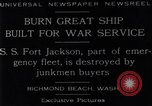 Image of Battle ship Richmond Beach Washington United States USA, 1929, second 7 stock footage video 65675041241