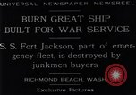 Image of Battle ship Richmond Beach Washington United States USA, 1929, second 9 stock footage video 65675041241