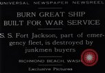 Image of Battle ship Richmond Beach Washington United States USA, 1929, second 11 stock footage video 65675041241