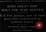 Image of Battle ship Richmond Beach Washington United States USA, 1929, second 12 stock footage video 65675041241