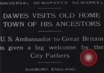 Image of Charles Dawes Sudbury England, 1929, second 4 stock footage video 65675041242