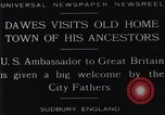 Image of Charles Dawes Sudbury England, 1929, second 8 stock footage video 65675041242