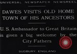 Image of Charles Dawes Sudbury England, 1929, second 9 stock footage video 65675041242