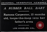 Image of Ramona Carpenter Los Angeles California USA, 1929, second 1 stock footage video 65675041244