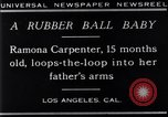 Image of Ramona Carpenter Los Angeles California USA, 1929, second 2 stock footage video 65675041244
