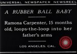 Image of Ramona Carpenter Los Angeles California USA, 1929, second 3 stock footage video 65675041244