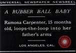 Image of Ramona Carpenter Los Angeles California USA, 1929, second 4 stock footage video 65675041244