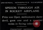 Image of Fritz Von Opel Frankfurt Germany, 1929, second 1 stock footage video 65675041245