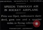 Image of Fritz Von Opel Frankfurt Germany, 1929, second 8 stock footage video 65675041245