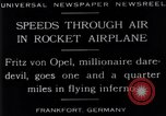 Image of Fritz Von Opel Frankfurt Germany, 1929, second 9 stock footage video 65675041245