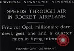 Image of Fritz Von Opel Frankfurt Germany, 1929, second 11 stock footage video 65675041245