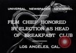 Image of Breakfast Club Los Angeles California USA, 1930, second 3 stock footage video 65675041246