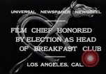 Image of Breakfast Club Los Angeles California USA, 1930, second 7 stock footage video 65675041246