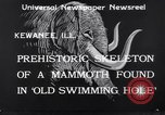 Image of Skeleton of mammoth Kewanee Illinois United States USA, 1933, second 7 stock footage video 65675041252